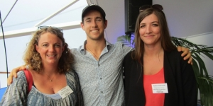 Julia Dunn and Kelena Zivkovich, Independent Timber Merchants (ITM) with Liam Malone, gold and silver medalist at the 2016 Rio Olympics and guest speaker at Gold Coast Connect