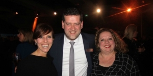 Simon Burgess, director marketing and sales at Adelaide Convention Centre with Tourism Australia's Penny Lion (left), executive general manager events and Kelly Maynard, business events distribution development manager